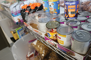 Pet food and supply pantry