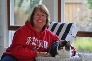 Photo: Mickey Michuda and her cat Charlie
