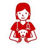 veterinarian and dog patient