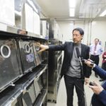 UW–Madison Professor Yoshihiro Kawaoka demonstrates how animal transmission studies are conducted for airborne viruses on a tour during an annual shutdown of the Influenza Research Institute in Madison, Wisconsin