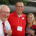 Bernard Easterday, alumnus and nominator Scott Spaulding, and Susan Hyland